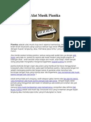 Cara Memainkan Pianika : memainkan, pianika, Musik, Pianika