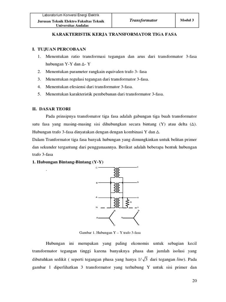 Transformator 3 Fasa Pdf : transformator, Modul, (TRANSFORMATOR, FASA).pdf