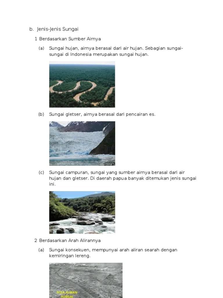 Jenis Jenis Sungai Berdasarkan Sumber Airnya : jenis, sungai, berdasarkan, sumber, airnya, Jenis, Sungai,, Danau,