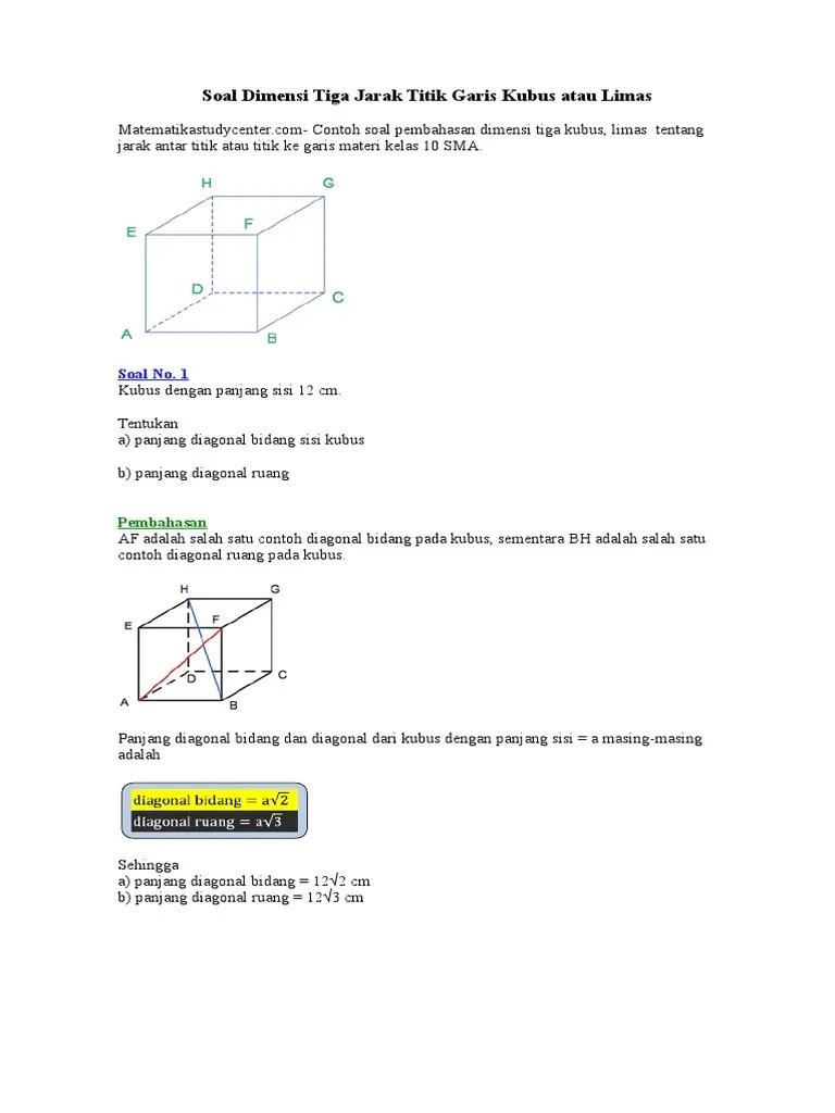 Materi Dimensi Tiga Kelas 12 Kurikulum 2013 : materi, dimensi, kelas, kurikulum, Contoh, Matematika, Kelas, Dimensi, Cute766