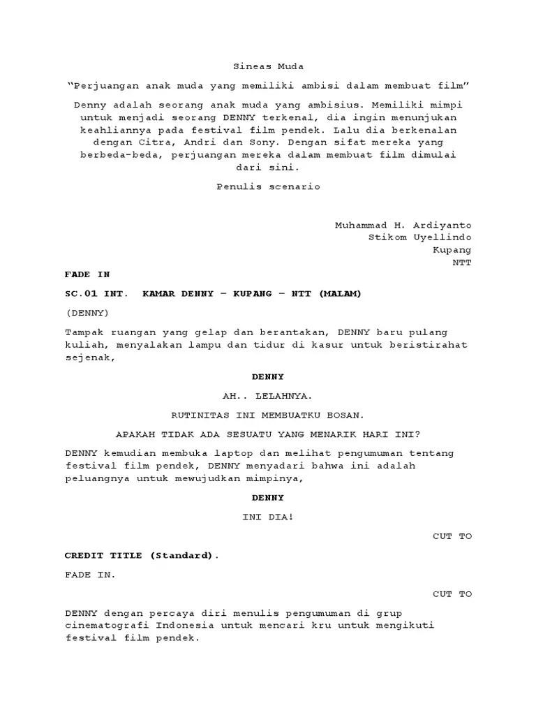 Contoh Script Film : contoh, script, Contoh, Skenario, Pendek