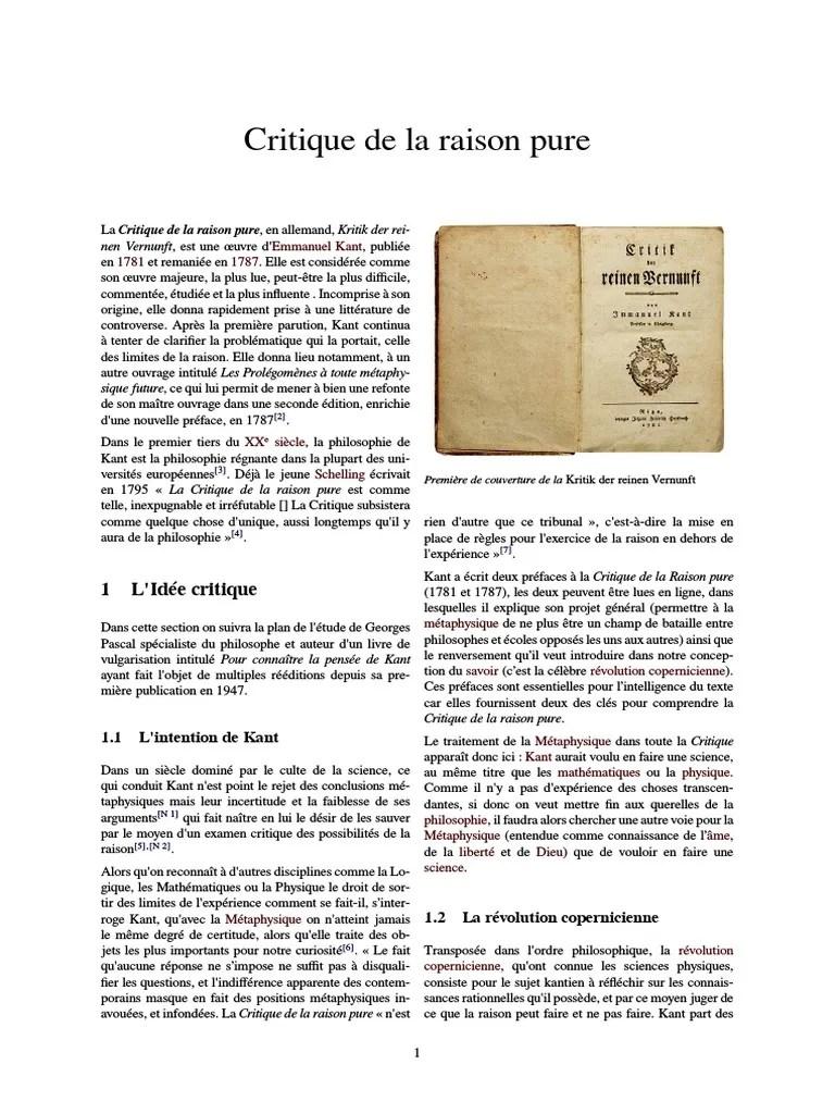 Critique De La Raison Pure Pdf : critique, raison, Critique, Raison, Pure.pdf, Métaphysique