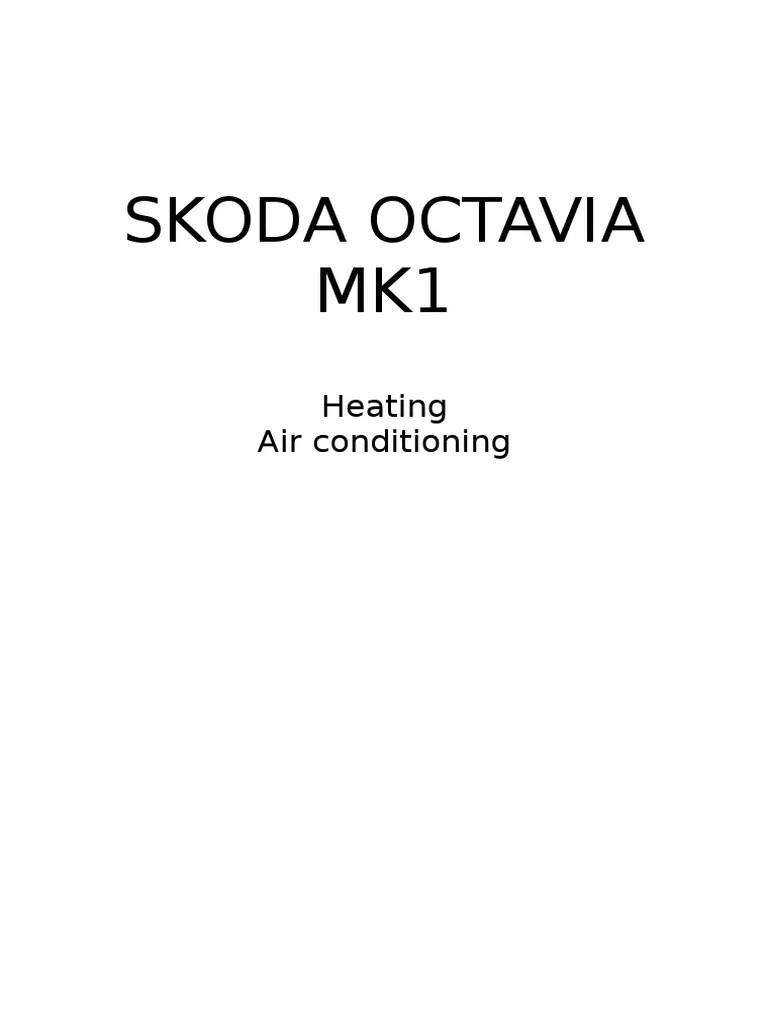 hight resolution of skoda octavia mk1 04 heating air conditioning air conditioning wiring diagram skoda octavia mk1