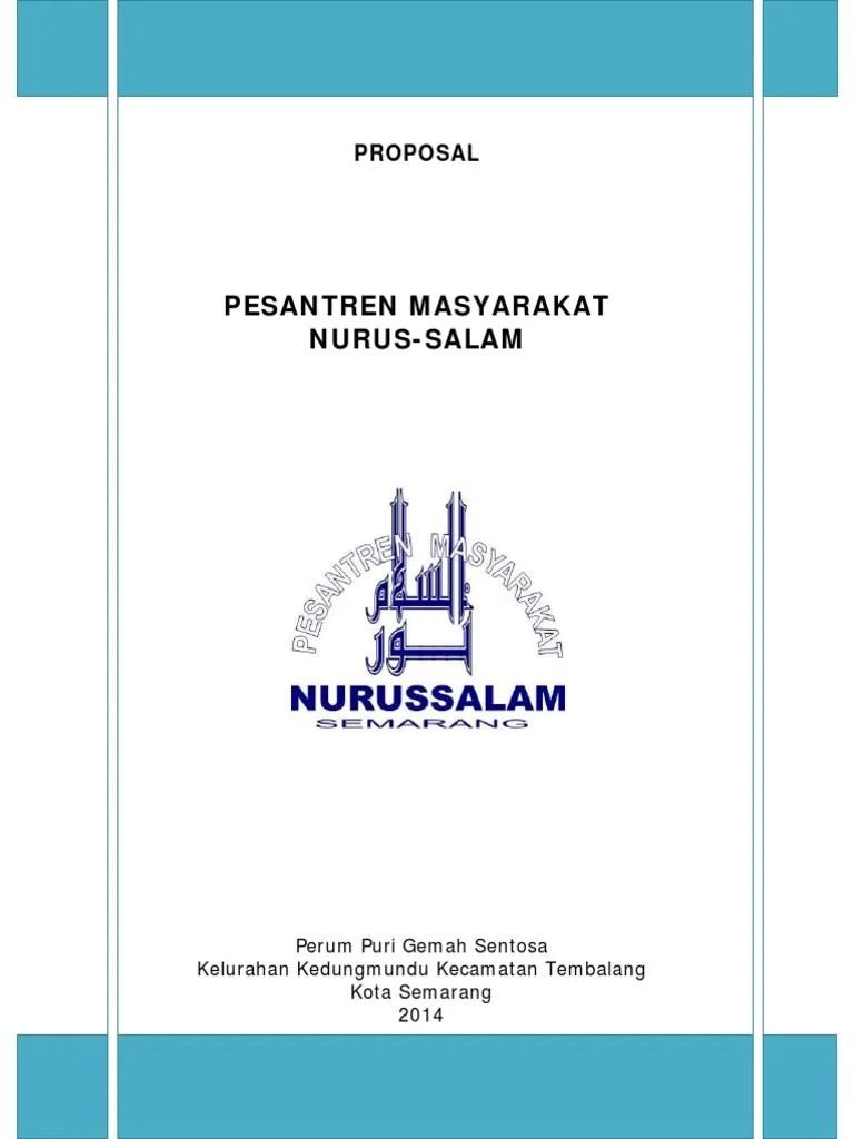 Proposal Pesantren Masyarakat Nurussalam