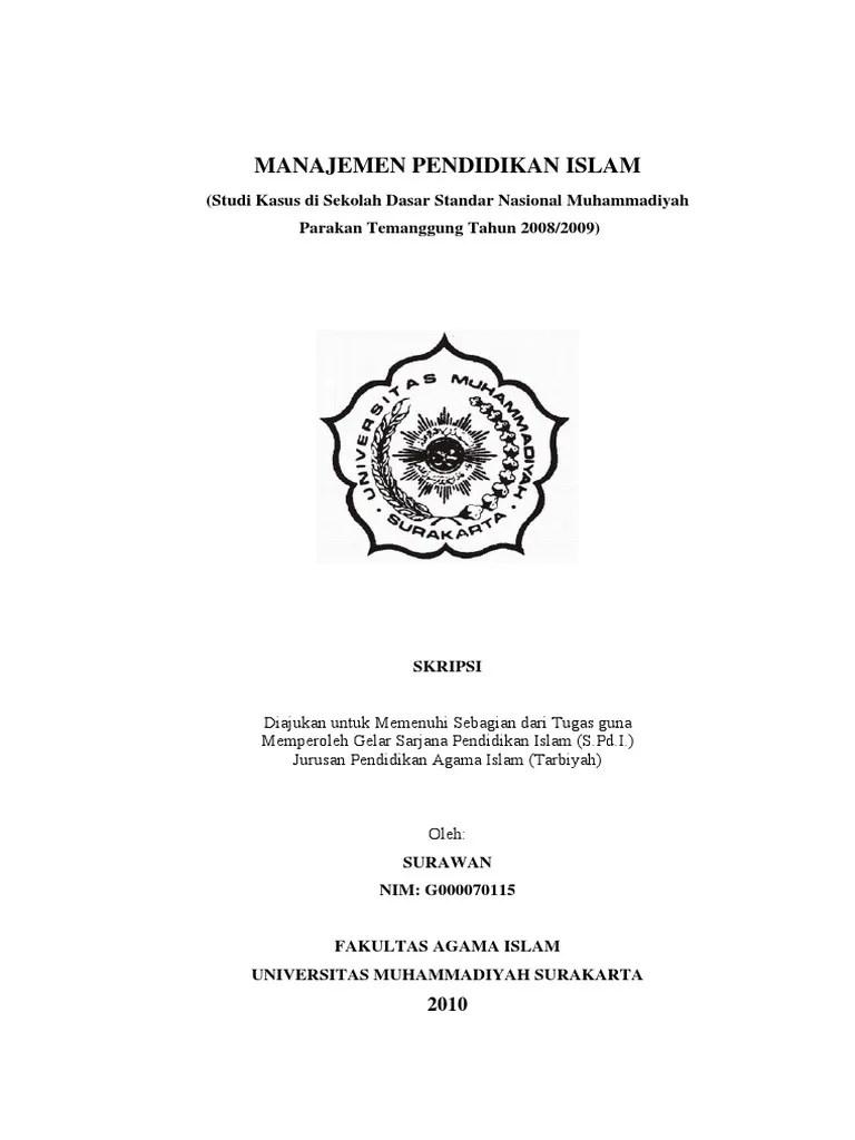 Skripsi Pai Kuantitatif Lengkap