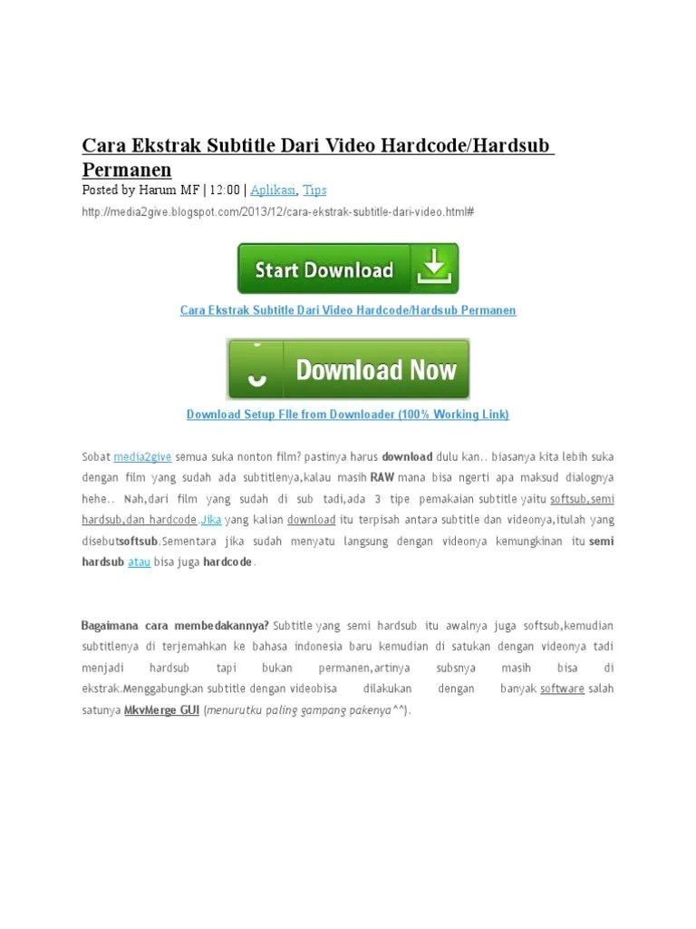 Cara Menggabungkan Video Dengan Subtitle Secara Permanen Hardsub : menggabungkan, video, dengan, subtitle, secara, permanen, hardsub, Ekstrak, Subtitle, Video, Hardcode