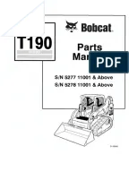 Bobcat 963 Skid Steer Loader Master Illustrated Parts List