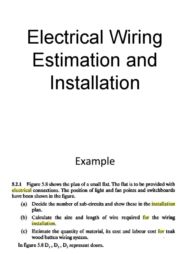 medium resolution of lecture on electrical wiring estimation and installation nuclear rh scribd com electrical wiring estimating costing and contracting electrical wiring