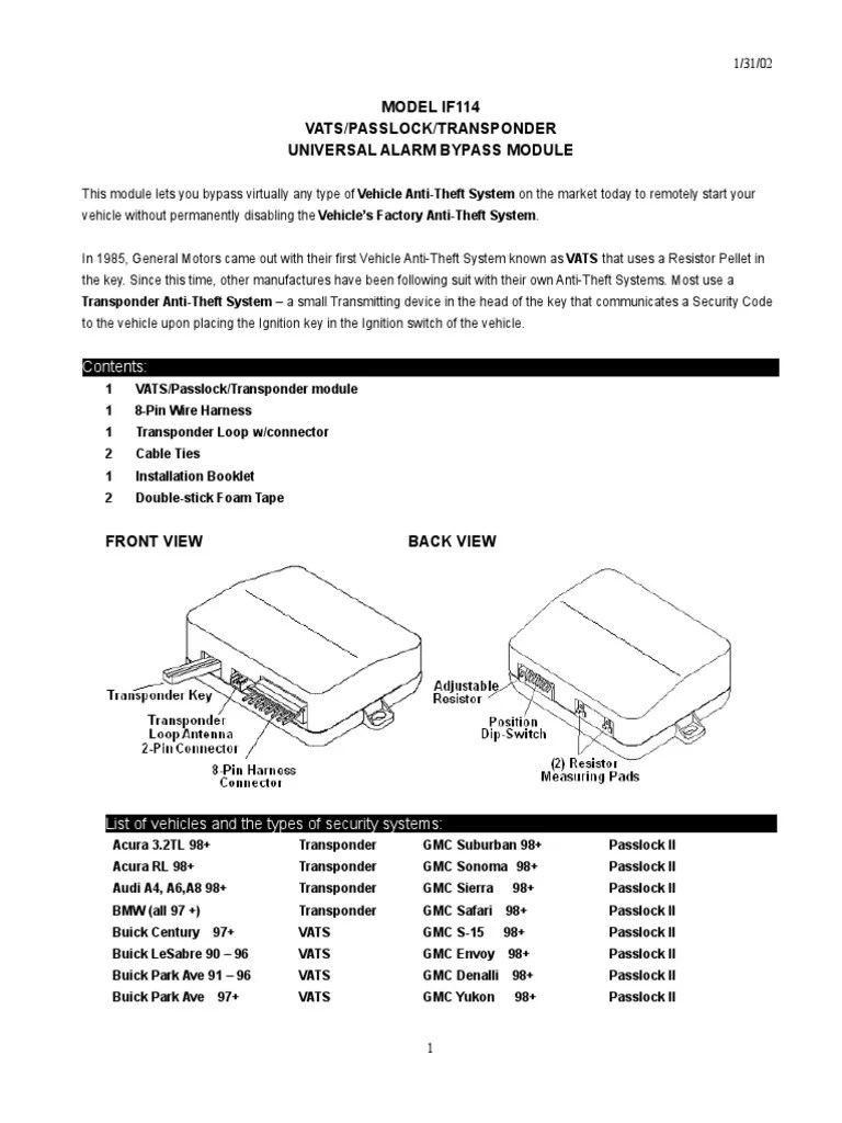 hight resolution of 2002 chevy cavalier passlock bypas wiring diagram