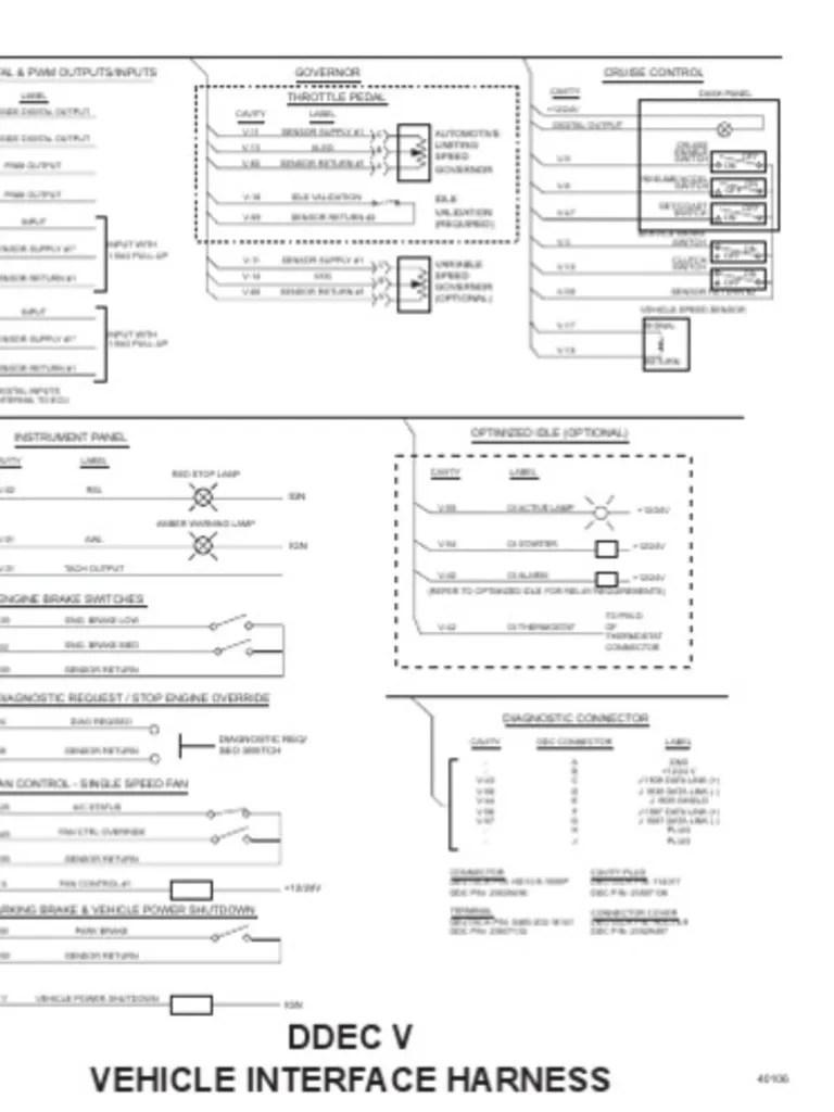 small resolution of ddec v wiring diagram wiring diagram paperdiagrama de cabina oem ddec v turbocharger electrical connector ddec