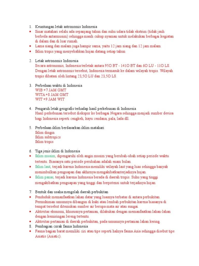 Keuntungan Letak Geologis Indonesia : keuntungan, letak, geologis, indonesia, Sebutkan, Pengaruh, Letak, Astronomis, Terhadap, Wilayah, Indonesia