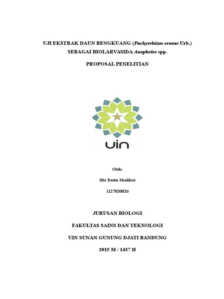 Contoh Cover Proposal Skripsi Uin Bandung Pejuang Skripsi Cute766