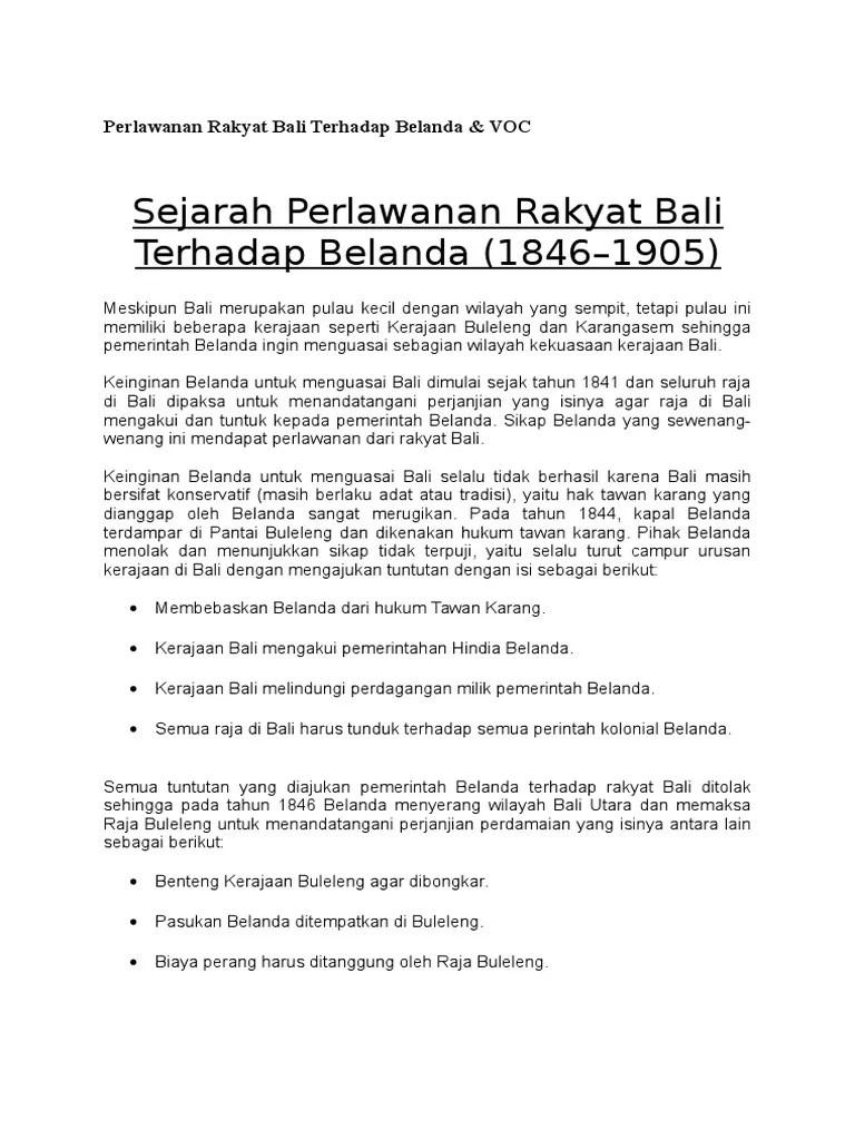 Masa Perjuangan Perlawanan Rakyat Bali : perjuangan, perlawanan, rakyat, Ringkasan, Perjuangan, Perlawanan, Rakyat, Dengan