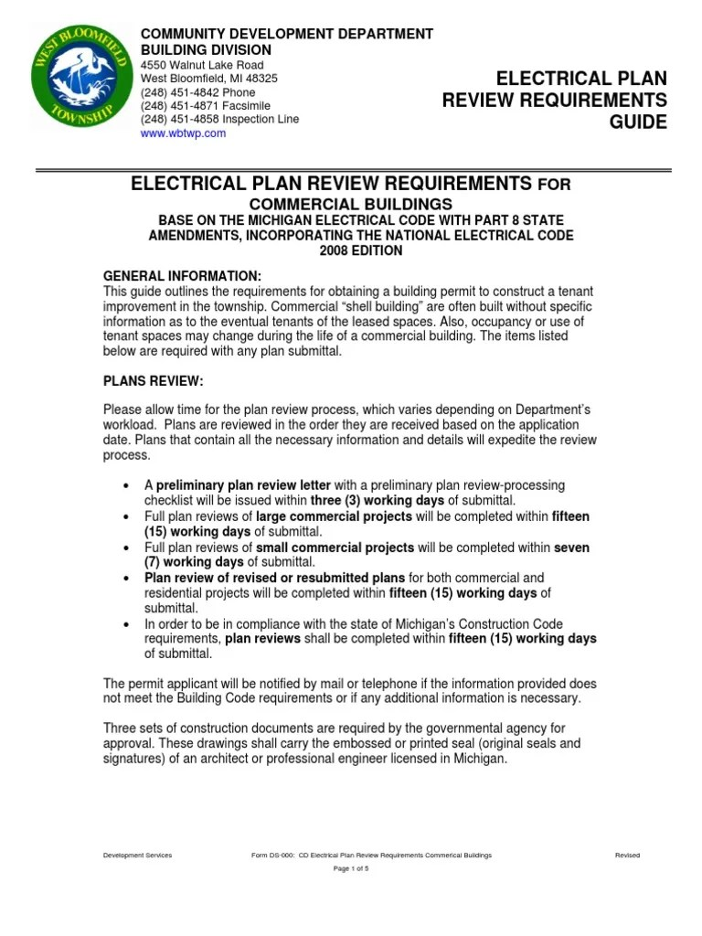 cd electrical plan review requirements commerical buildings electrical wiring electrical components [ 768 x 1024 Pixel ]