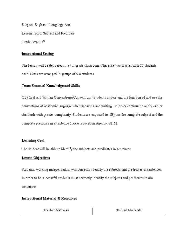 medium resolution of cynthia brooks subject predicate lp   Subject (Grammar)   Predicate  (Grammar)