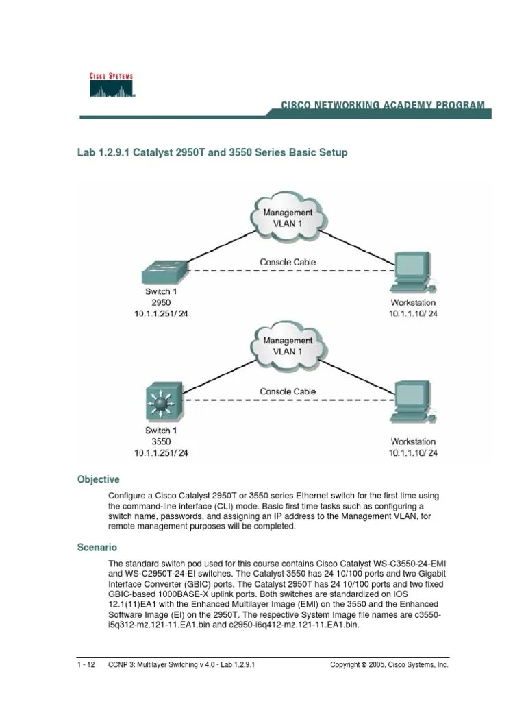 ccnp3 lab 1 2 9 1 en command line interface network switch [ 768 x 1024 Pixel ]