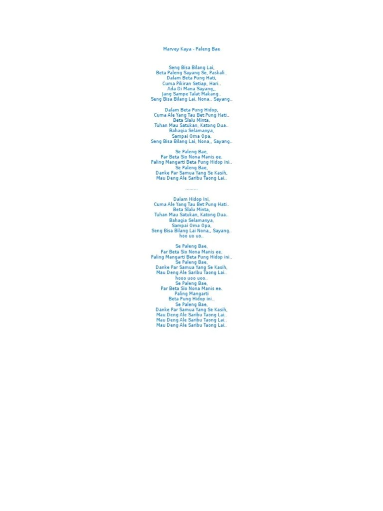 Se Paleng Bae Lagu MP3 dan MP4 Download | Metro Musik