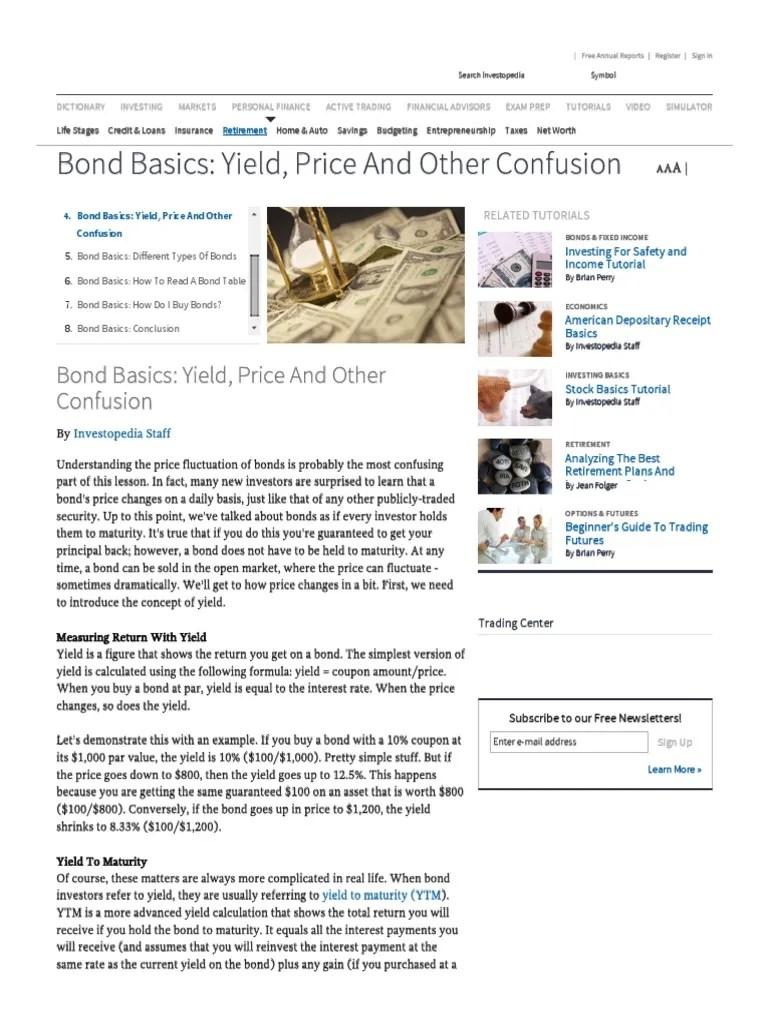 Bond basics yield price and other confusion bonds finance also rh esribd