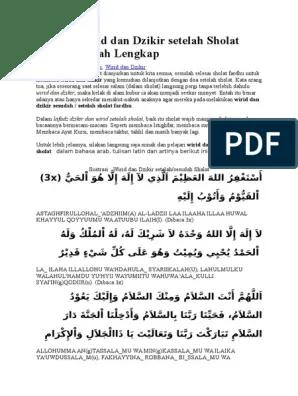 Dzikir Setelah Sholat Fardhu Nahdlatul Ulama Pdf : dzikir, setelah, sholat, fardhu, nahdlatul, ulama, Bacaan, Wirid, Dzikir, Setelah, Sholat, Fardhu.doc