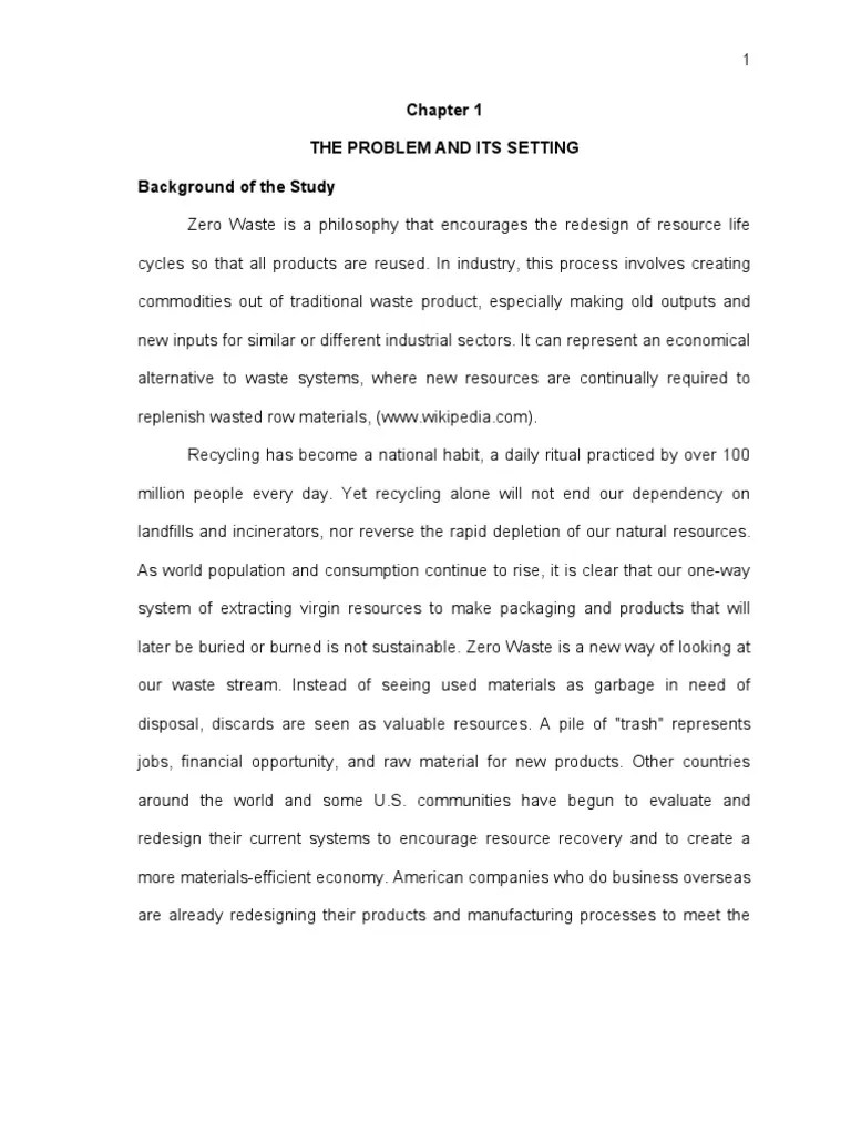 Edited Thesis In Research Waste Sustainability