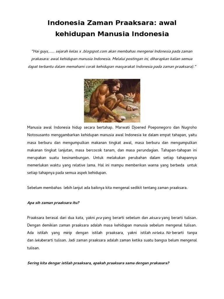 Zaman Praaksara Adalah Zaman : zaman, praaksara, adalah, Indonesia, Zaman, Praaksara