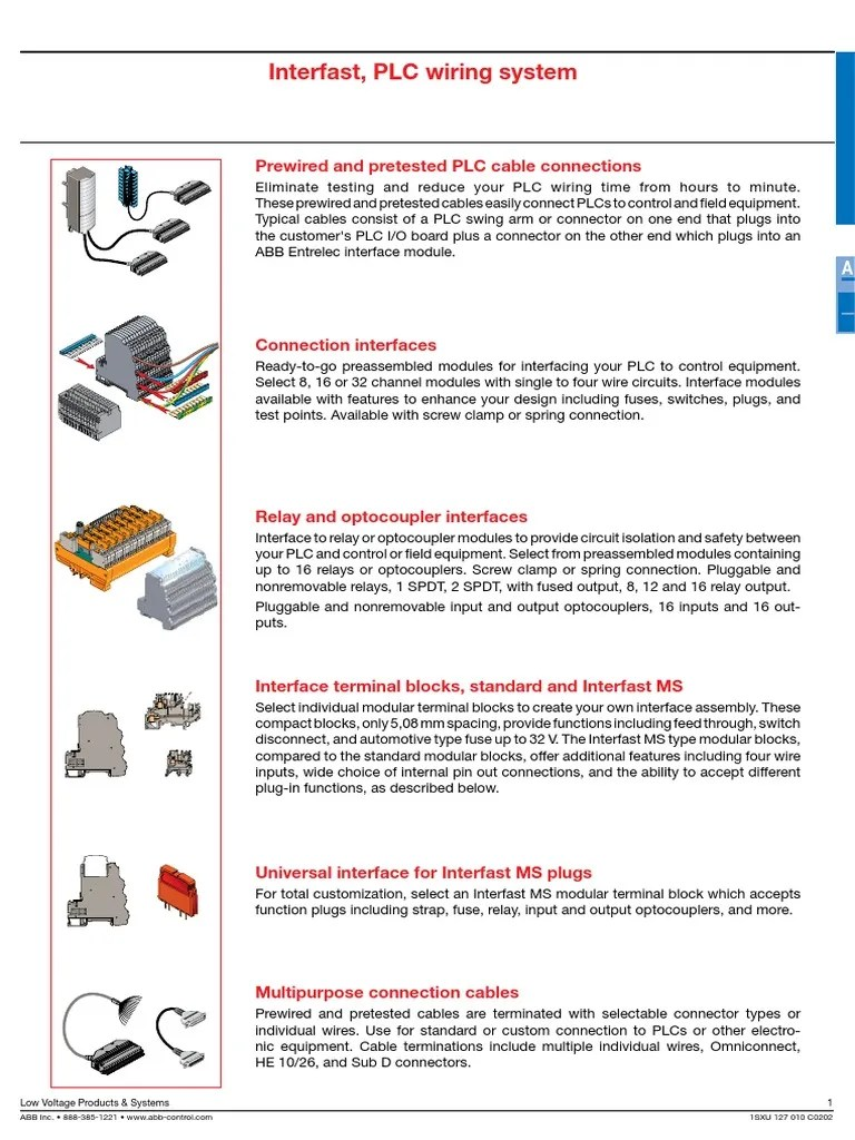 hight resolution of plc 1sxu127010c0202 section a pdf electrical connector programmable logic controller