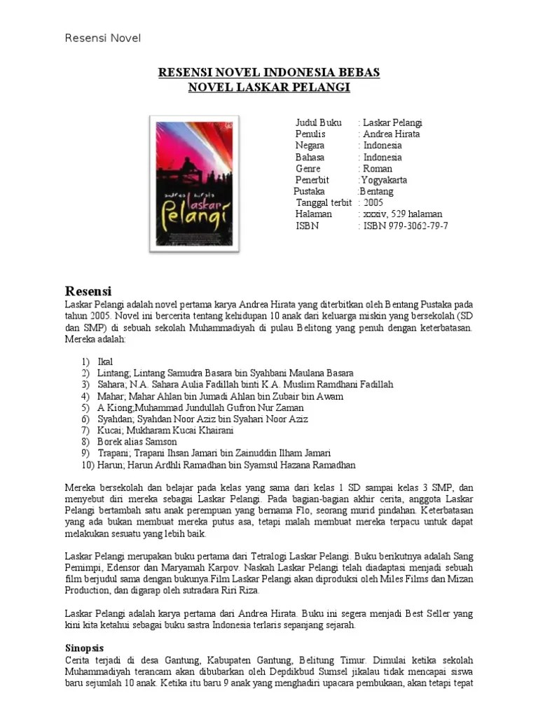 Contoh Teks Ulasan Novel Laskar Pelangi : contoh, ulasan, novel, laskar, pelangi, Struktur, Ulasan, Novel, Laskar, Pelangi, Cute766