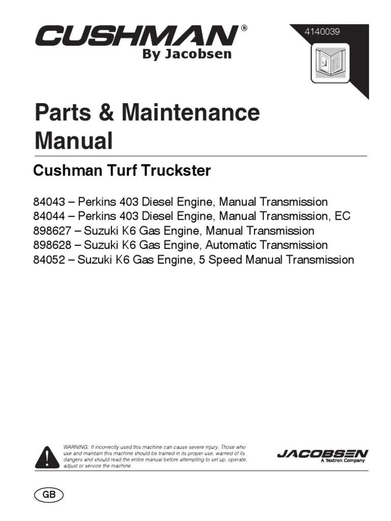 medium resolution of parts e maintenance cushman turf truckster pdf motor oil manual transmission