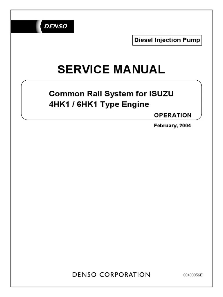 medium resolution of isuzu 4hk1 6hk1 type engine pdf fuel injection engines mix isuzu 6hk1 wiring diagram 5