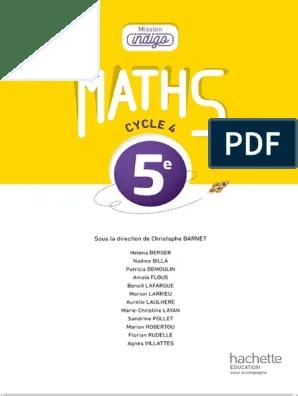 Mission Indigo Maths 5eme Correction : mission, indigo, maths, correction, 5ème, Mission, Indigo