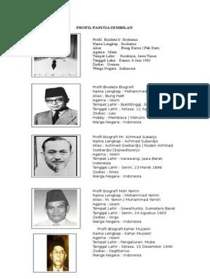 Apa Saja Tugas Dan Siapa Saja Anggota Panitia Sembilan : tugas, siapa, anggota, panitia, sembilan, Biografi, Panitia, Sembilan, Ilustrasi