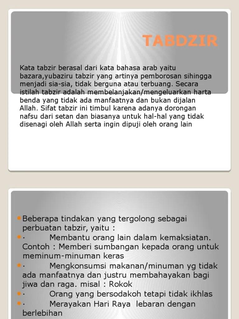 Pengertian dan Contoh Tabzir / Boros | Cara Menghindari Perilaku...