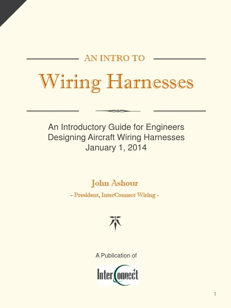 an introductory guide for engineers designing aircraft wiring harnesses electrical connector insulator electricity  [ 768 x 1024 Pixel ]