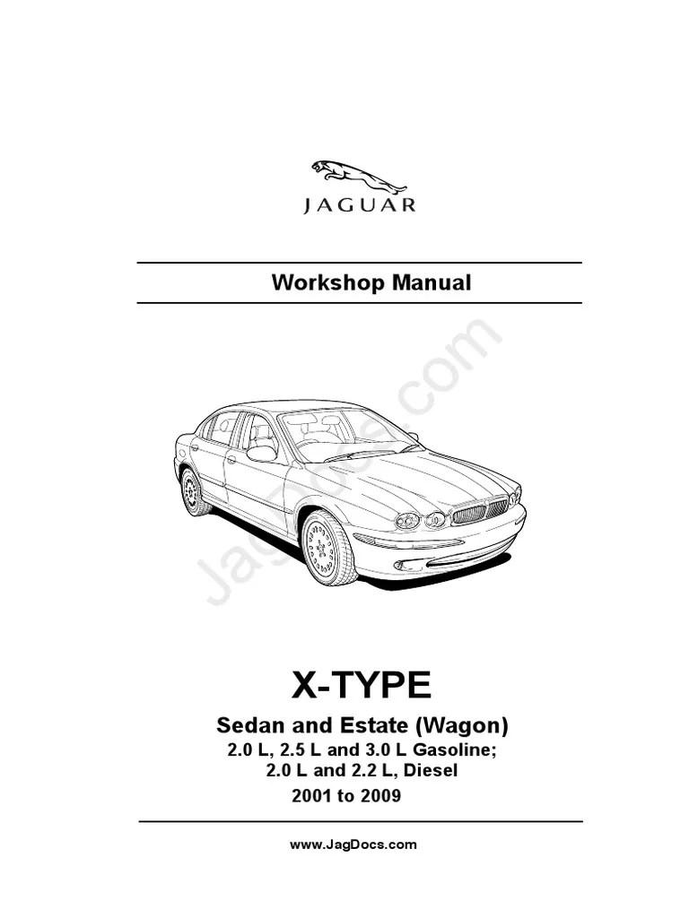 medium resolution of jaguar workshop manual x type 2001 2009 pdf v6 engine manual transmission
