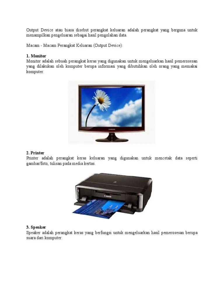 Macam Macam Output Device : macam, output, device, Output2