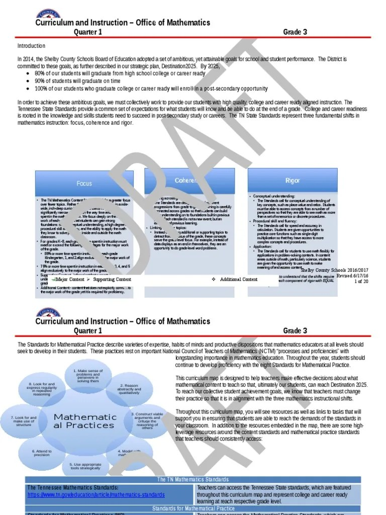small resolution of grade 3 q1 16 17 revision ii docx multiplication national council of teachers of mathematics