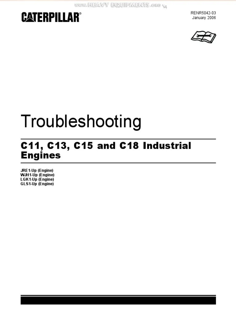 manual troubleshooting caterpillar c11 c13 c15 c18 industrial engines fuel injection turbocharger [ 768 x 1024 Pixel ]
