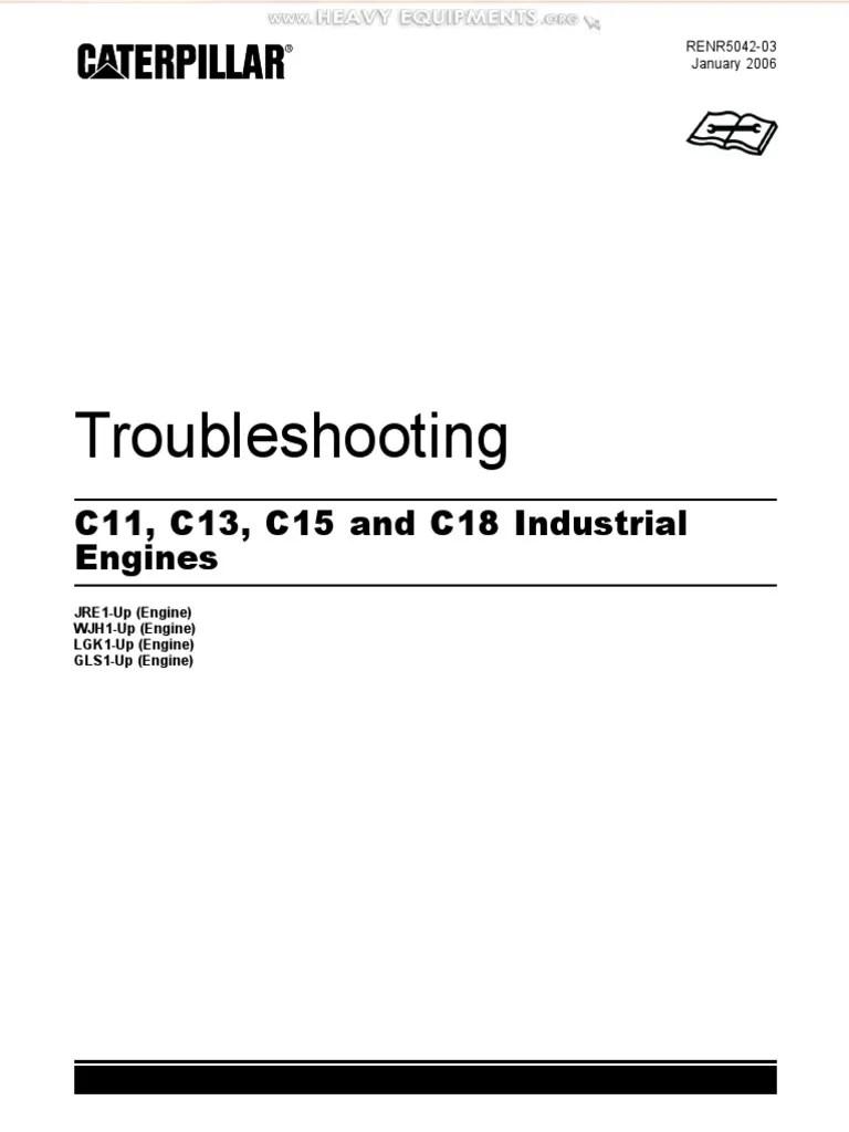 medium resolution of manual troubleshooting caterpillar c11 c13 c15 c18 industrial engines fuel injection turbocharger