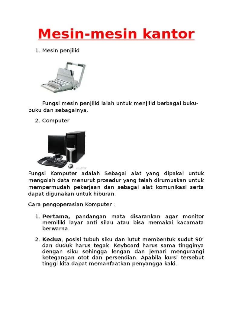 Fungsi Mesin Penjilid : fungsi, mesin, penjilid, Mesin, Komunikasi, Kantor