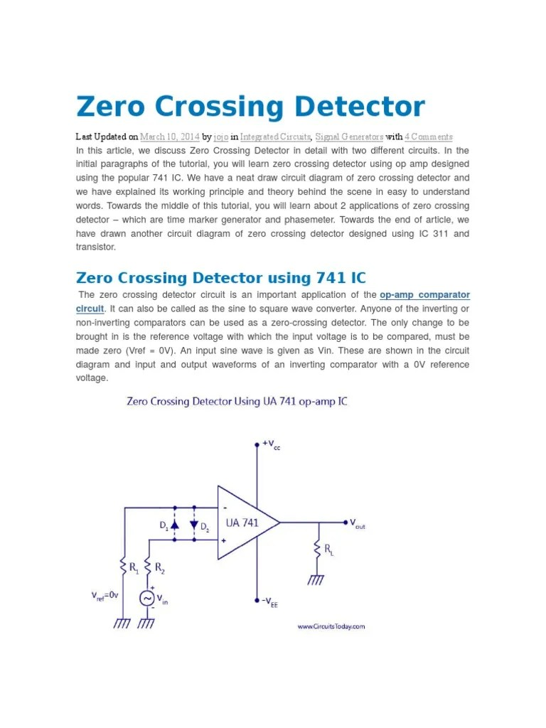 medium resolution of circuit diagram of zero crossing detector