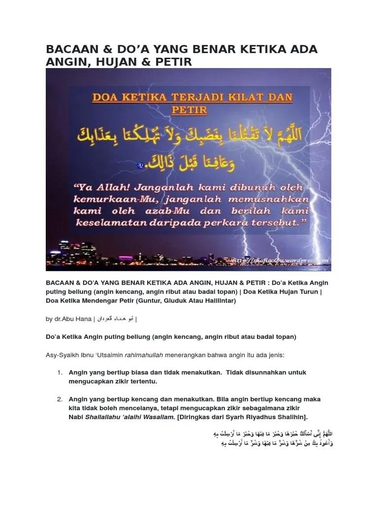Doa Hujan Angin : hujan, angin, Hujan, Angin