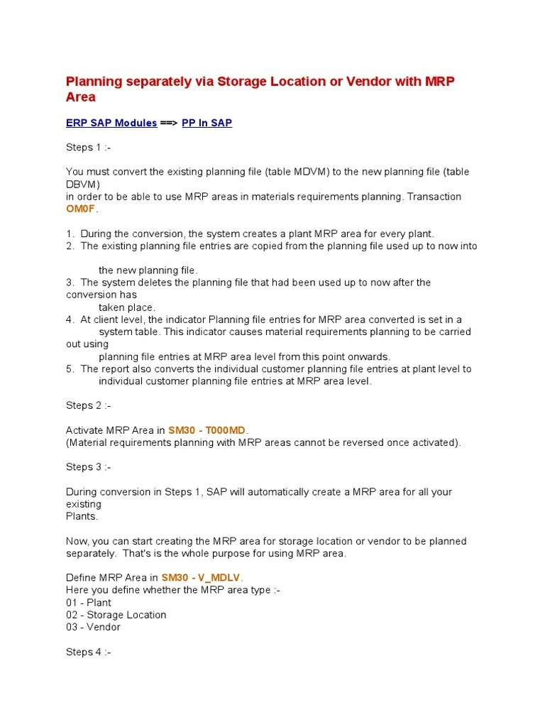 hight resolution of sap mrp