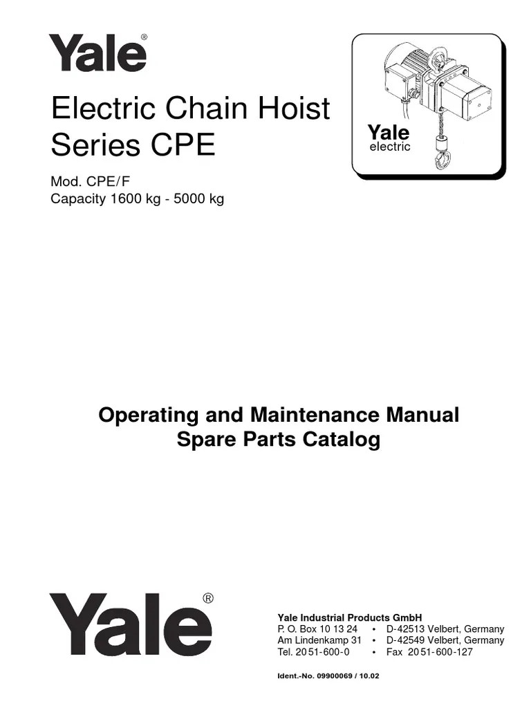 small resolution of yale electric chain hoist wiring diagram