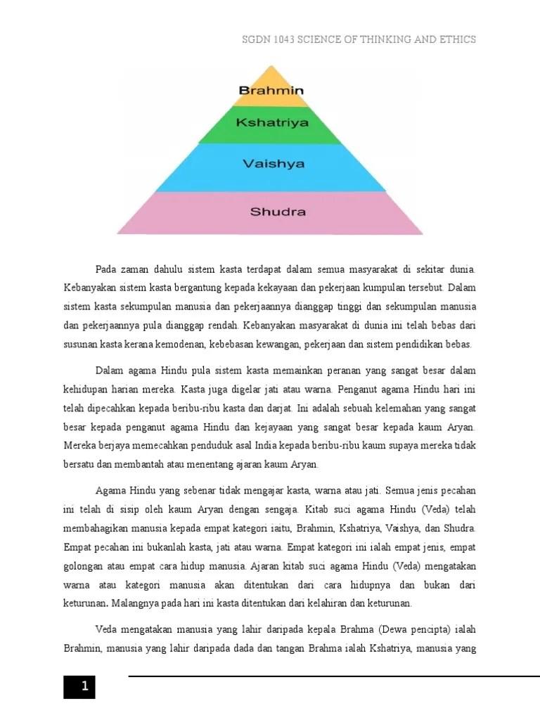 Kasta Hindu : kasta, hindu, Sistem, Kasta