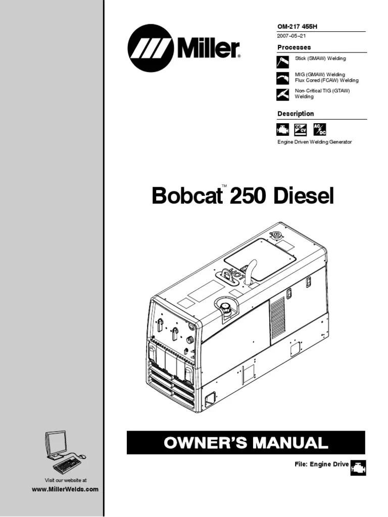 medium resolution of bobcat 250 wiring diagram wiring diagram library miller wiring diagram 230v p350