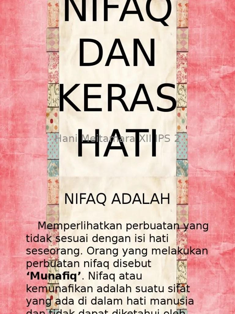 Pengertian Nifaq, pembagian dan hukumnya (Lengkap)