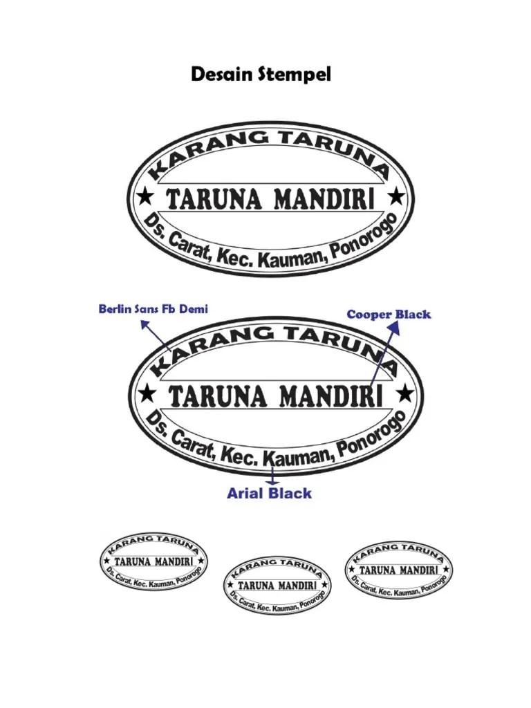 Stempel Panitia Hut Ri : stempel, panitia, Desain, Stempel, Karang, Taruna