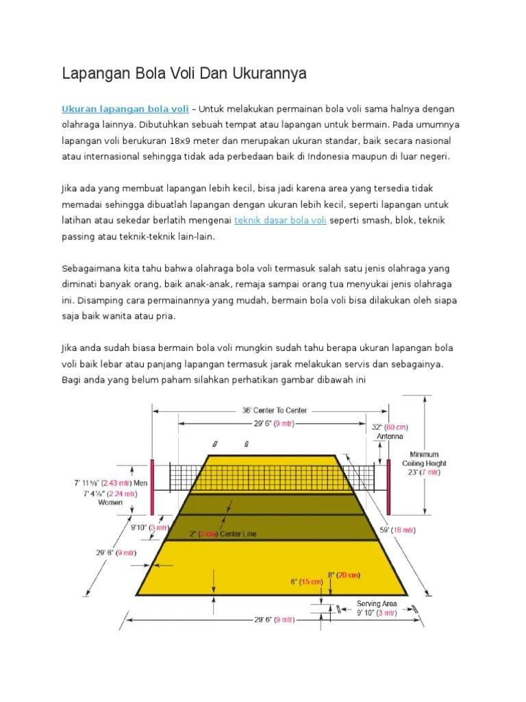 Bentuk Lapangan Bola Voli : bentuk, lapangan, Gambar, Lapangan, Ukuran, Berbagai