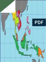 Peta Asean Lengkap Dengan Negara dan Letak Geografisnya