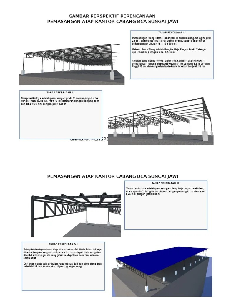 tebal reng baja ringan pekerjaan konstruksi atap